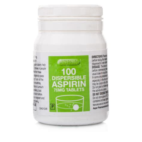 aspirin dosage dispersible aspirin 75mg tablets health chemist direct