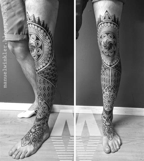 full leg sleeve tattoo ink leg sleeve a flowers mandalas tattoos