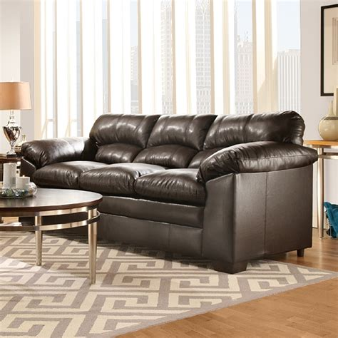 simmons living room furniture simmons upholstery lowell sofa espresso home