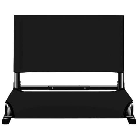 most comfortable stadium seat deluxe wide stadium seat by stadium chair black new ebay