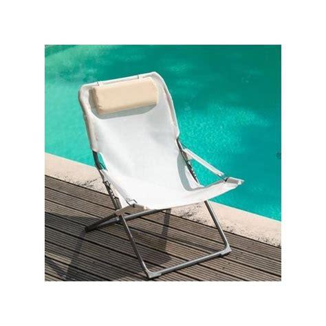 fauteuil relax pliant fauteuil relax pliant et r 233 glable blanc plantes et jardins