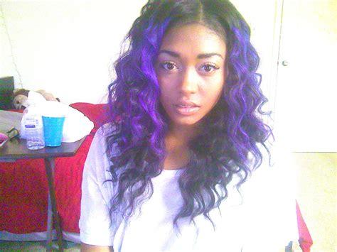 purple weave on black women ombre purple hair for black women fav hairstyles
