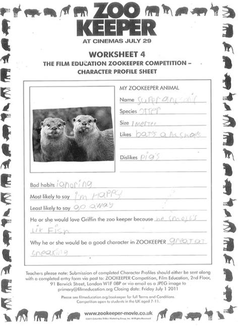 Zookeeper Education by Education Resources Zookeeper Competition