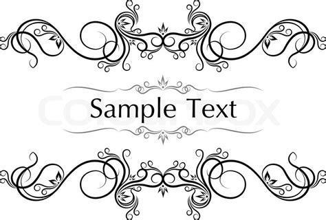 Wedding Border Symbol Fonts by Font Filigree Banner Stock Vector Colourbox