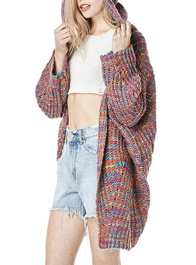 colored womens womens sweater cotton knit multicolored