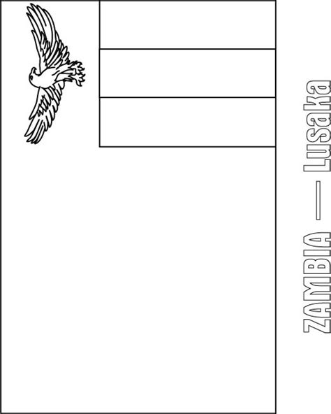 Zambia Flag Free Colouring Pages Zambia Flag Coloring Page
