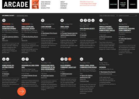 web design event calendar on the radar build blog