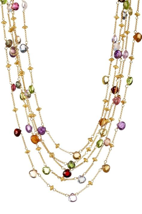 Accessorise With Some Beautiful Necklaces by Multi Five Strand Necklace Pascale De Groof