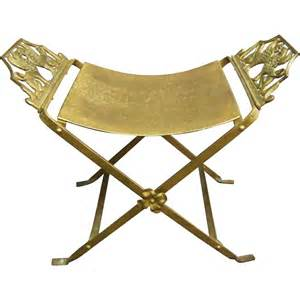 Vanity Chair Transparent Deco Curule Vanity Bench With Winged Griffins