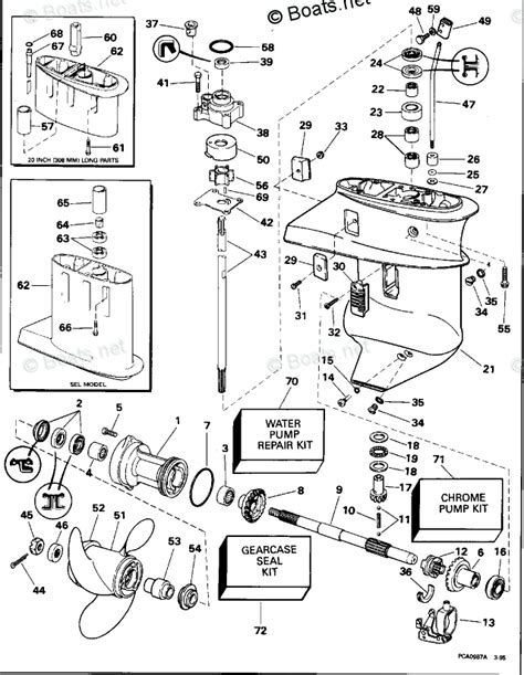 boats net evinrude parts evinrude outboard parts by year 1995 oem parts diagram for