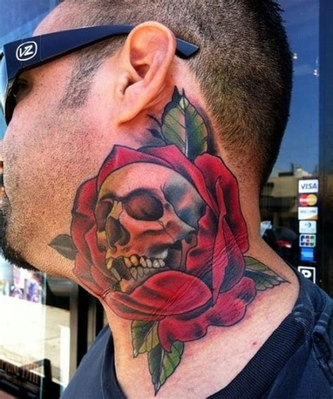jawline tattoo skull tattoos designs for meanings and ideas for guys