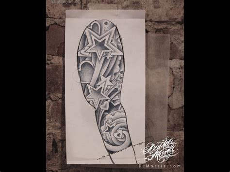 star sleeve tattoo designs cloud 8572 illustration and design