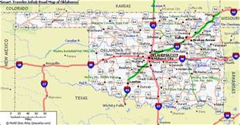 Ok State Map by Coast To Coast 2014 Oklahoma Last Stop Before Route 66
