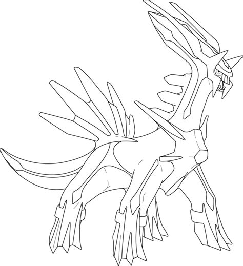 pokemon coloring pages dialga lineart of dialga by inukawaiilover on deviantart