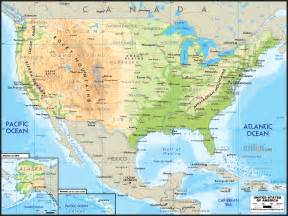Usa Physical Map by Road Map Of United States Of America Ezilon Maps