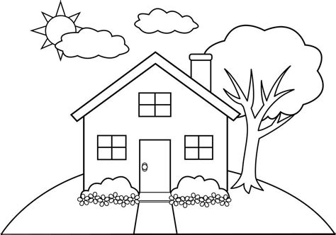 coloring pages house house coloring page coloring pages house kids activities