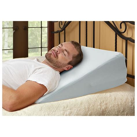 Incline Pillow For Bed | broyhill gel memory foam adjustable wedge pillow 633385