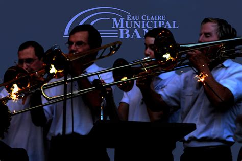 trombone section file the trombone section of the eau claire municipal band