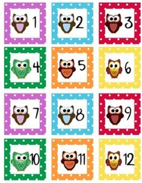 printable owl calendar numbers 8 best images of tables number labels owl printable free