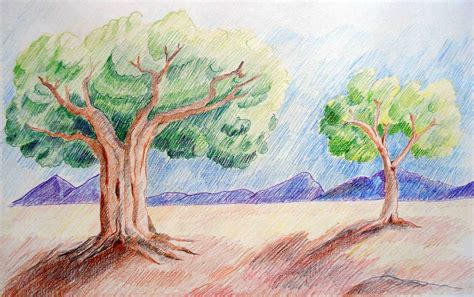 draw landscapes in colored pencil the ultimate step by step guide books work by unmilan ghosh at coroflot