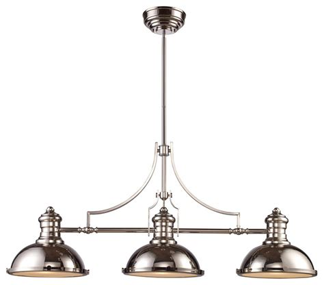 3 Light Pendant Lighting Landmark Lighting Chadwick 3 Light Billiard Island Light Homethangs Pendant Lighting