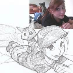 illustrator turns strangers photos into anime inspired