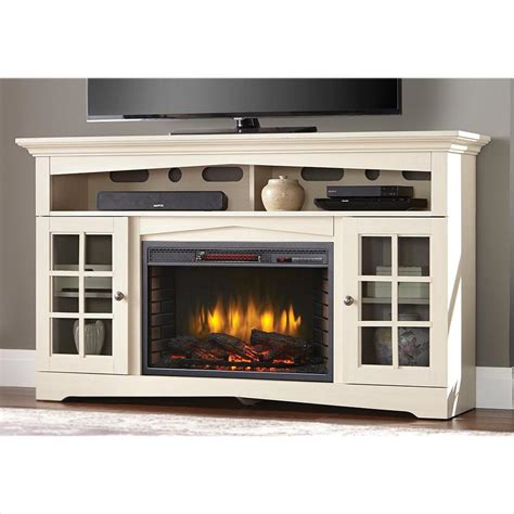 Home Decorators Collection Avondale Grove 59 in. TV Stand Infrared Electric Fireplace in Aged