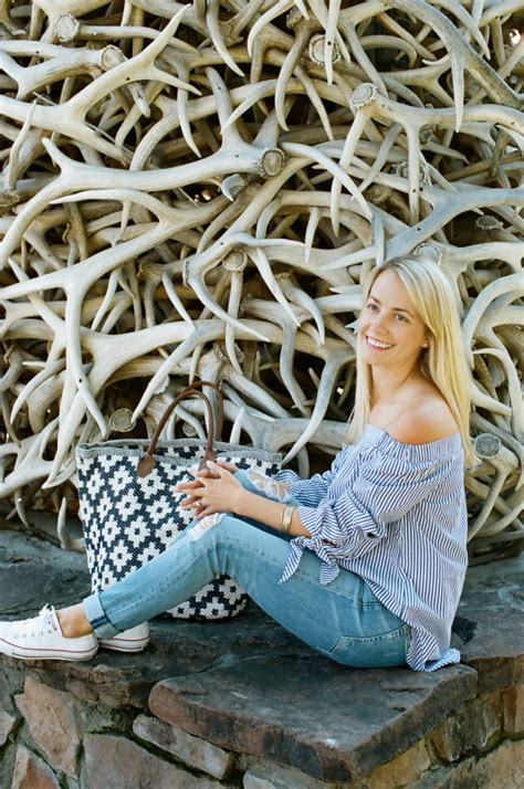 annie selke blue and white annie selke tote in jackson hole wyoming