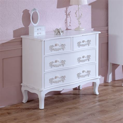 Chest Of Drawers Second by Antique White 4 Drawer Chest Of Drawers Pays Blanc Range
