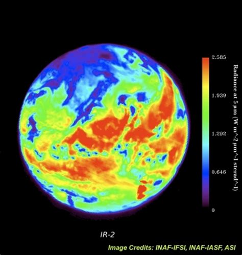 the earth in infrared : space