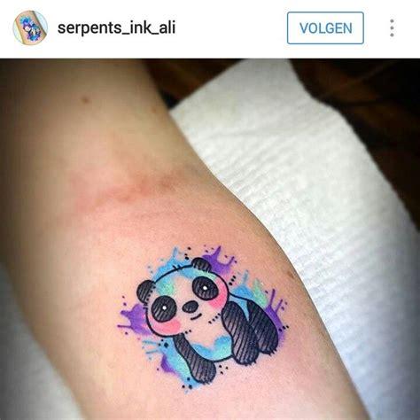 watercolor tattoos panda this watercolor splash my panda idea animal