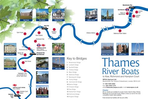 Thames River Boat Cruise Map | thames river boats