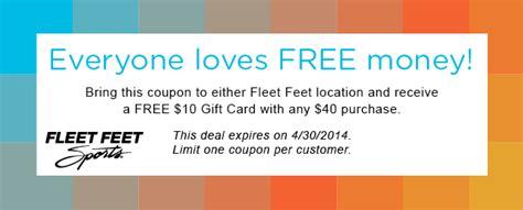 Fleet Feet Gift Card - fleet feet tucson coupon offer
