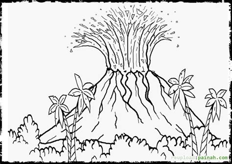 free printable volcano coloring pages volcano coloring pages for kids coloring home