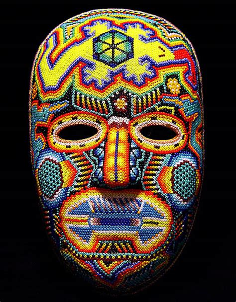 how to make a bead mask huichol beaded masks at mexico lindo mercado dsc01493
