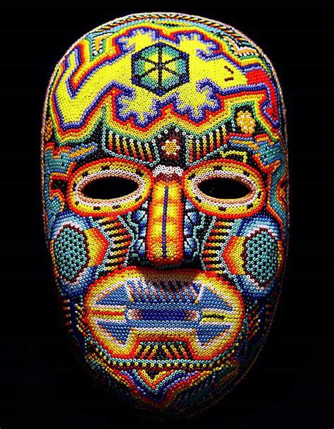 bead mask huichol beaded masks at mexico lindo mercado dsc01493