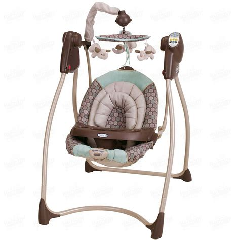 fully reclined baby swing baby swing plug in infant vibration and songs music