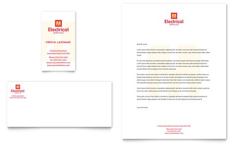 templates for business cards microsoft office electrical services business card letterhead template