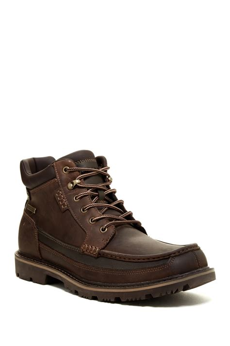 lyst rockport gb moc mid waterproof boot wide width available in brown for