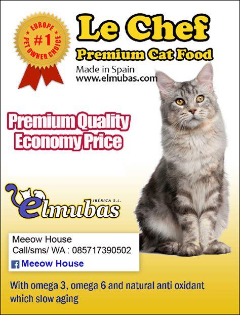 meeow house makanan kucing le chef