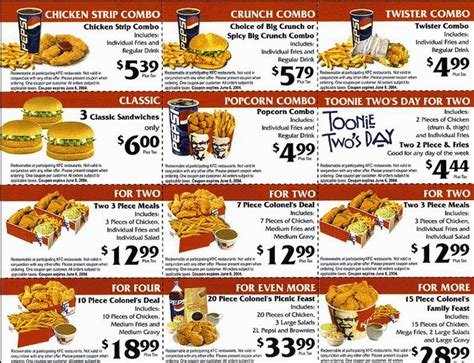 printable kfc coupons kfc coupons new calendar template site