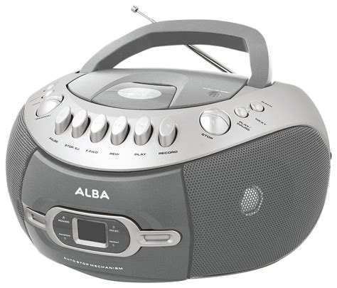 cd and cassette player sale on alba cd radio and cassette player boombox