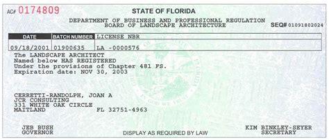 Landscape Architect License Florida Qualifications