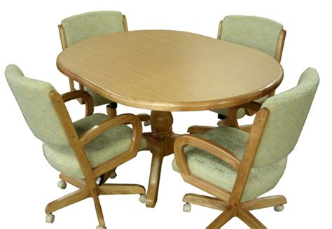oak kitchen table and chairs with casters foto bugil