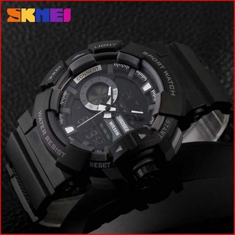 Jam Tangan Led Skmei Digital jam tangan pria skmei nf52788 natate chrono digital led