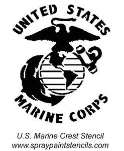 Marine Emblem Outline by Stencil Requests For May 2007