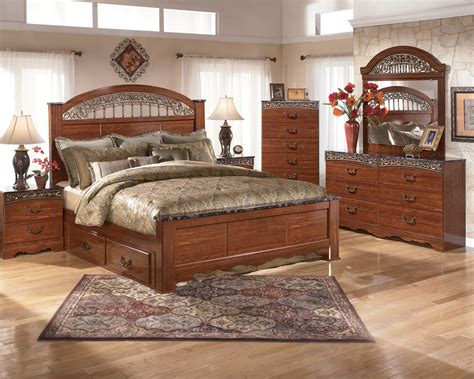 fairbrooks estate poster bedroom set fairbrooks estate poster bedroom set from ashley b105 67