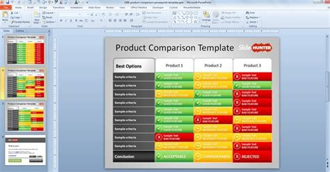 free product comparison powerpoint template