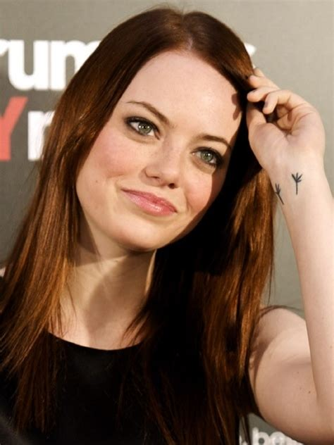 emma stone s wrist tattoo 11 best celebrity tattoos that