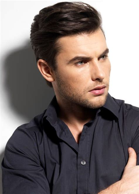 short same length hairstyles men quot haircut with length left on top this one is brushed to